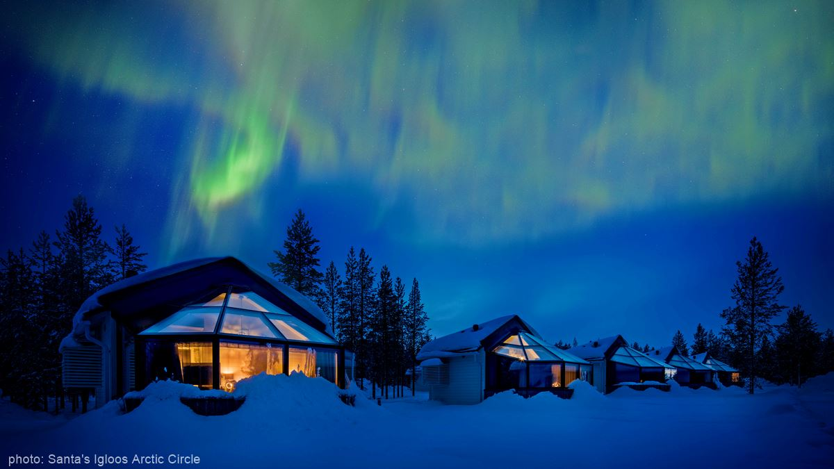 Northern Lights Santa's Igloos Arctic Circle