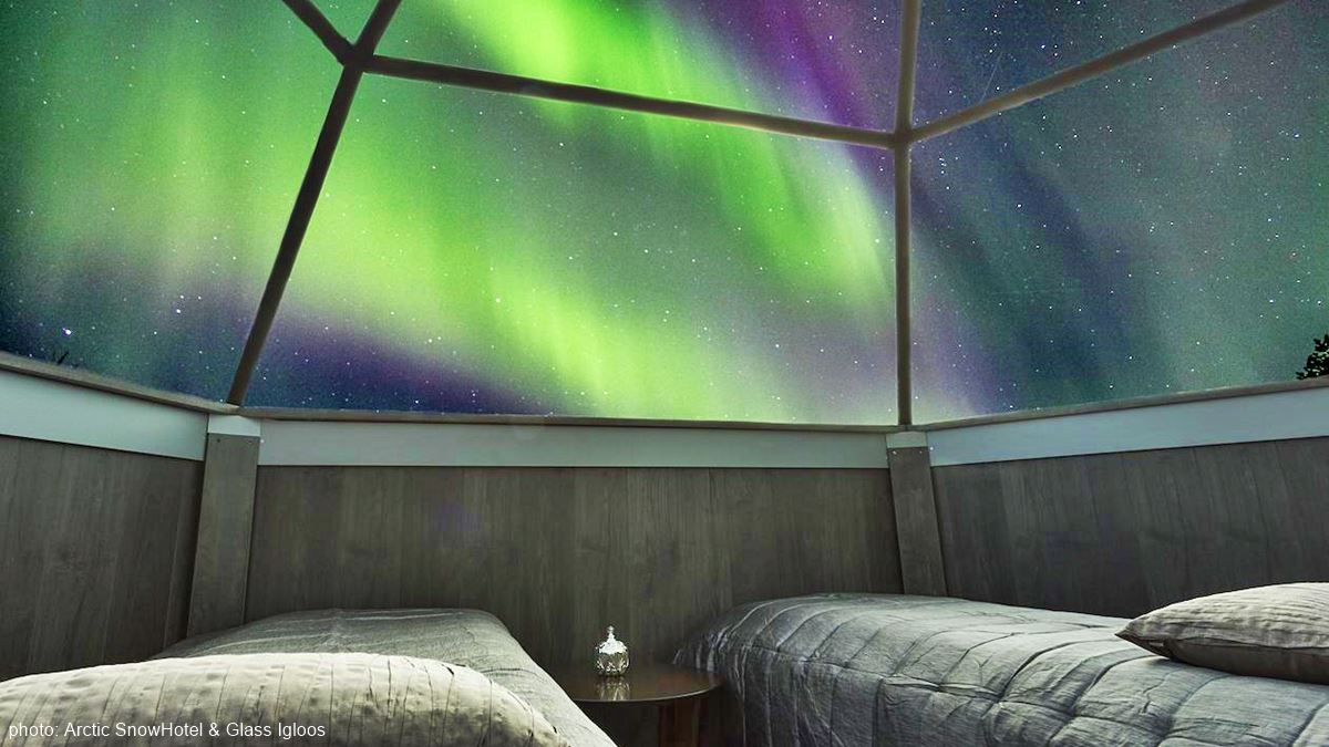 Arctic SnowHotel Glass Igloos Northern Lights