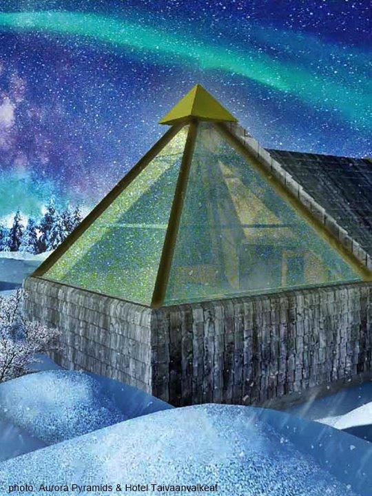 Aurora Pyramids & Hotel Taivaanvalkeat