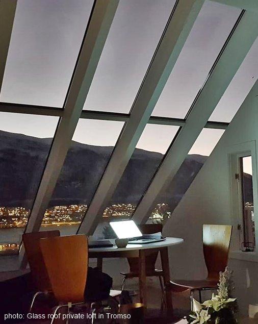 Glass roof private loft in Tromso